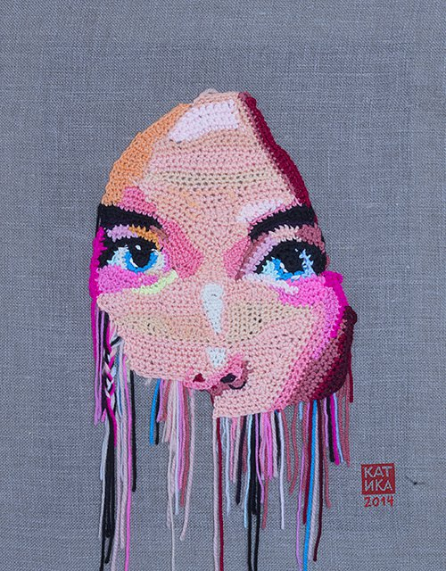 Bjoerk-50x40Yarn-canvas-acrylic-paint-wood-2014.jpg
